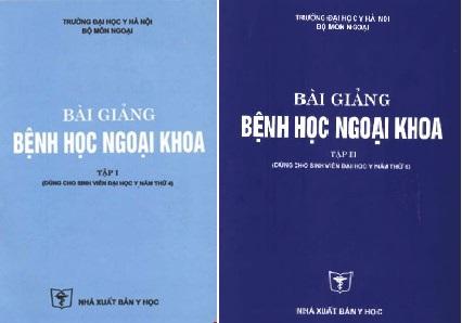 [PDF] Bài giảng bệnh học ngoại khoa – trọn bộ 2 tập – Đại học Y Hà Nội