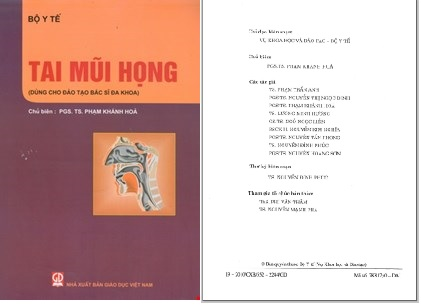 Bài giảng Tai Mũi Họng – Bộ Y tế (dành cho đào tạo Bác sĩ đa khoa)