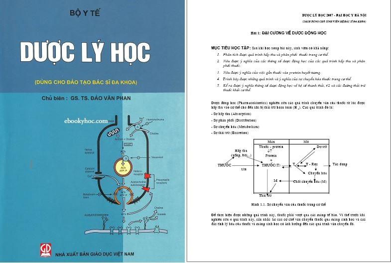 Dược lý học (đào tạo Bác sĩ đa khoa) – Đại học Y Hà Nội