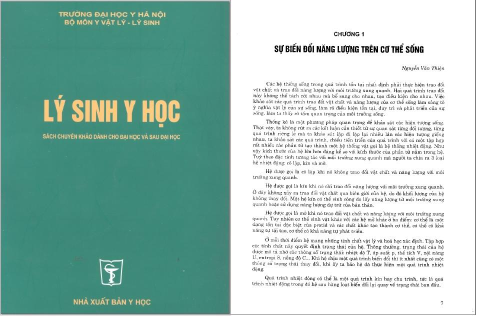 [PDF] Giáo trình Lý Sinh Y Học – Đại học Y Hà Nội